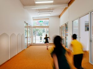 children in new corridor