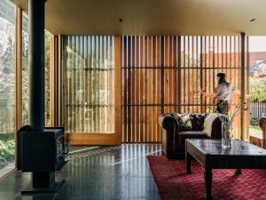 Timber privacy screens from within